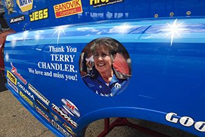 The late Terry Chandler would be proud of her Make-A-Wish team, Johnson after nearly defending their Route 66 Nationals title