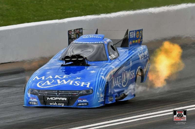 Johnson posts career-best speed with Collins' tune-up as Chandler's Make-A-Wish Dodge qualifies fifth at Topeka