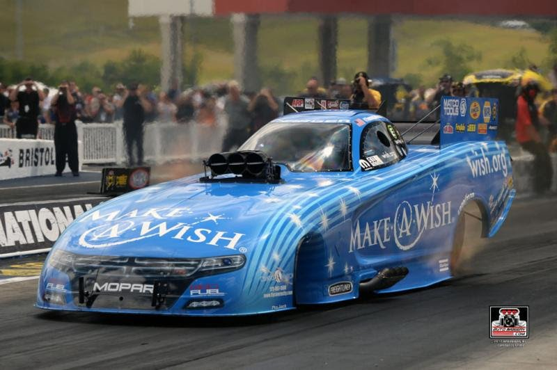 Johnson, Make-A-Wish experience another successful Thunder Valley Nationals with semifinal finish at Bristol
