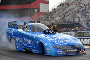 Johnson and Chandler's Make-A-Wish Dodge look to keep improving this weekend as NHRA Series moves to Norwalk in Northern Ohio