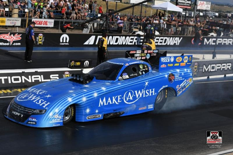 Johnson, Make-A-Wish team hope to extend final-round streak to three but leave a winner at Sunday in NHRA Sonoma Nationals