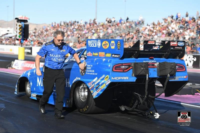 Johnson, Make-A-Wish Dodge team start looking forward to 2018 on Monday with Las Vegas test session, after tough season
