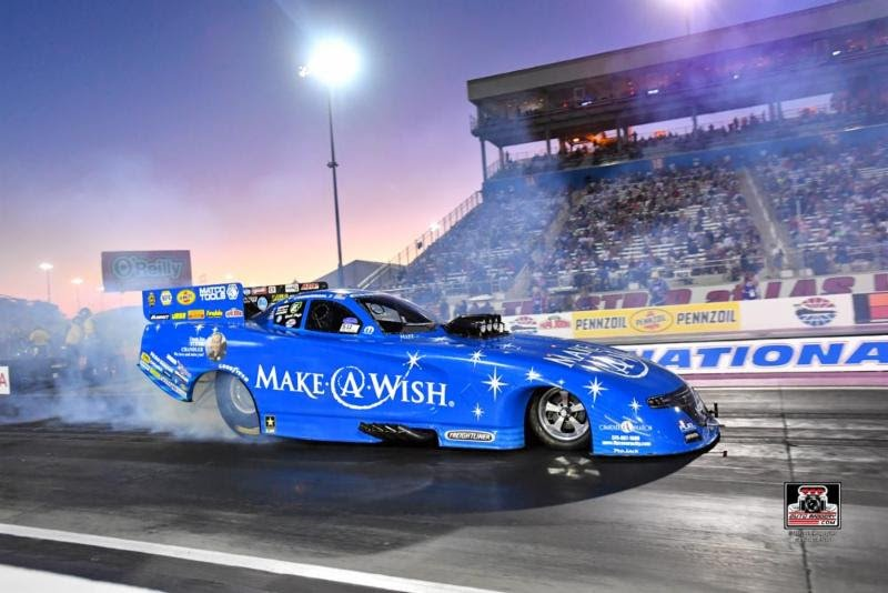 Make-A-Wish team to apply knowledge gained from Las Vegas testing with plan to defend NHRA title Johnson won a year ago in season-finale at Pomona