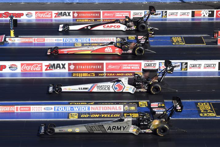 Mopar-powered Drivers Beckman and Schumacher Earn Runner-up Finishes in Funny Car and Top Fuel at Vegas