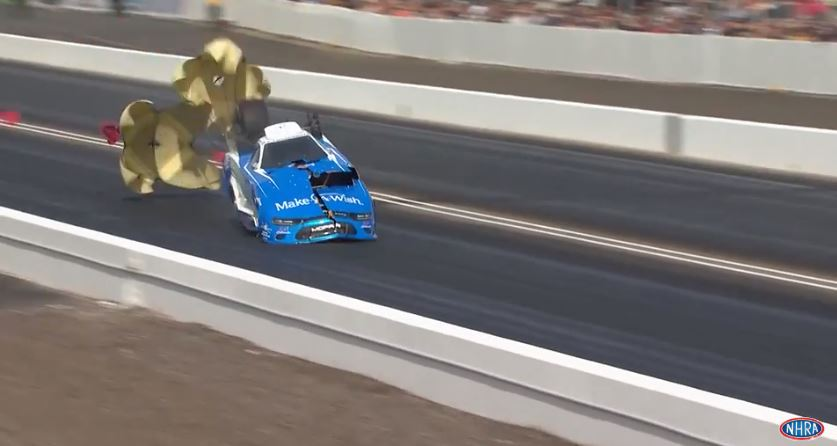 Tommy Johnson Jr.'s Make-A-Wish Funny Car team recovering from wild NHRA Arizona Nationals