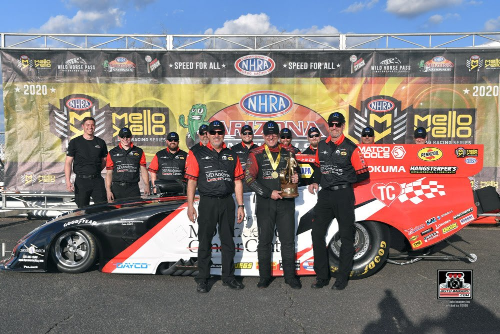 Tommy Johnson, Jr. Earns 20th NHRA Victory, and First for MD Anderson NHRA DSR Mopar